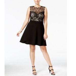 NWT Love Squared Lace Dress Plus Size 2X Black
